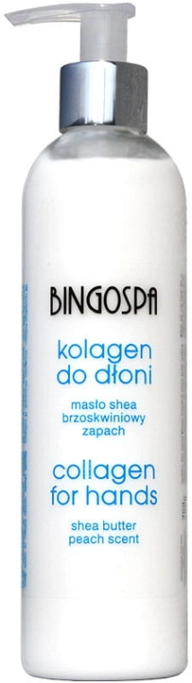 Kolagen do dłoni Brzoskwinia i masło shea - BingoSpa Collagen For Hand Care Peach And Shea Butter