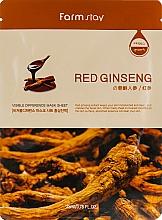 Kup Maseczka w płachcie do twarzy z ekstraktem z korzenia czerwonego żeń-szenia - Farmstay Visible Difference Mask Sheet