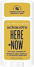 Kup Naturalny dezodorant do skóry wrażliwej dla mężczyzn - Schmidt's Here +Now Natural Deodorant