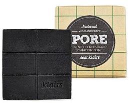 Kup Delikatne mydło w kostce do skóry tłustej - Klairs Gentle Black Sugar Charcoal Soap