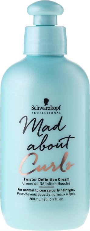Krem definiujący do loków - Schwarzkopf Professional Mad About Curls Twister Definition Cream — фото N1