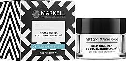 Kup Regenerujący krem do twarzy do skóry suchej i normalnej - Markell Cosmetics Detox Program Face Cream