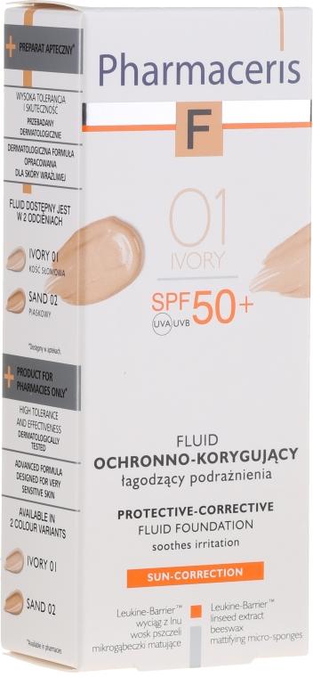 Fluid ochronno-korygujący SPF 50+ - Pharmaceris F Protective-Corrective Fluid Foundation