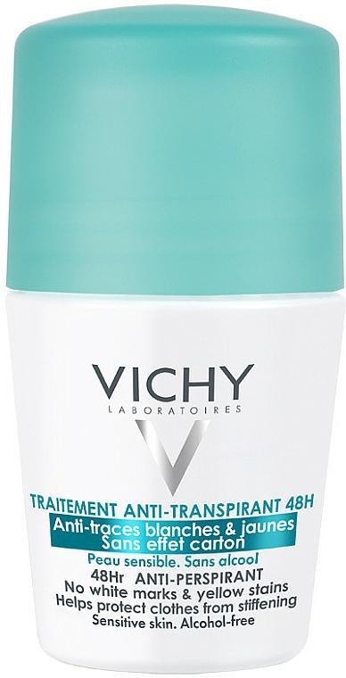 Antyperspirant w kulce przeciw śladom na ubraniach - Vichy Traitement Anti-Transpirant 48H
