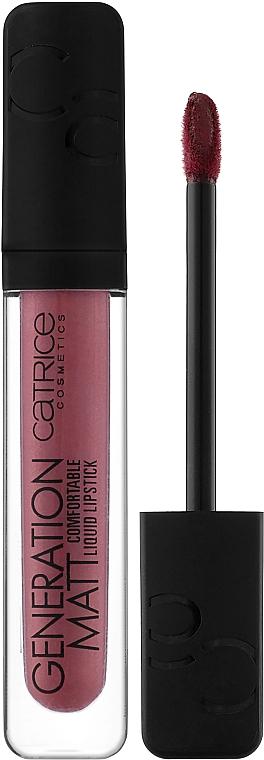 Płynna pomadka do ust - Catrice Generation Matt Comfortable Liquid Lipstick — фото N1