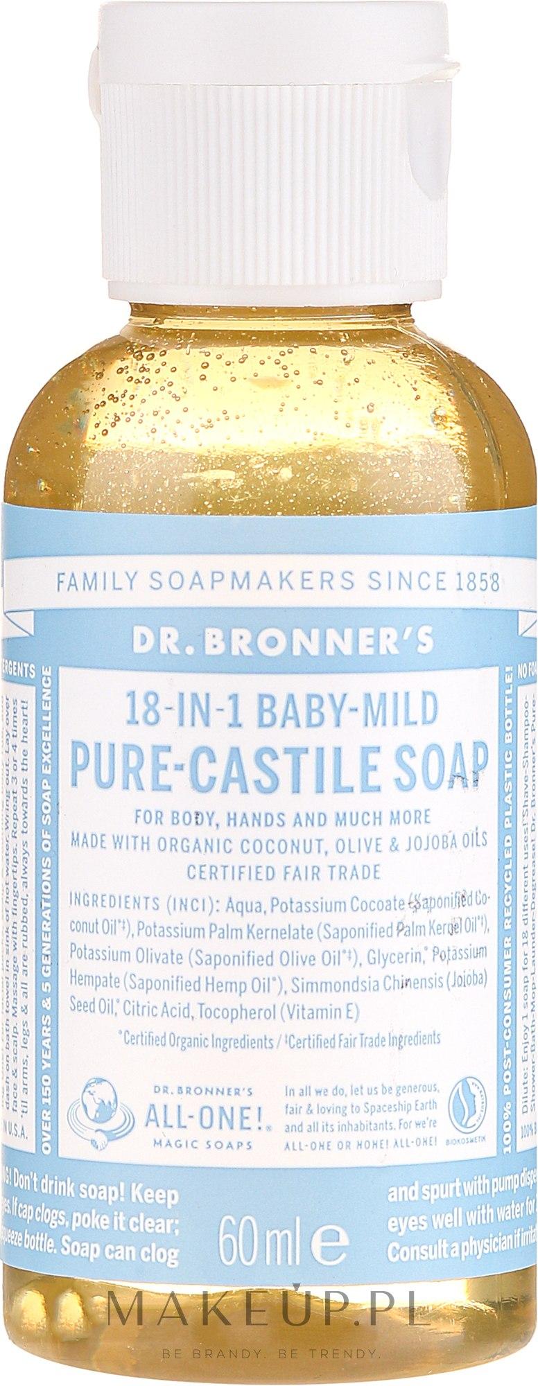 Mydło w płynie dla dzieci - Dr. Bronner's 18-in-1 Pure Castile Soap Baby-Mild — фото 60 ml