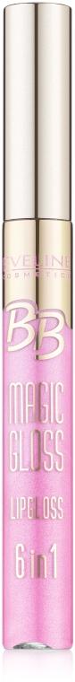 Błyszczyk do ust - Eveline Cosmetics BB Magic Gloss Lipgloss 6 w 1
