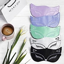 Maska do snu Tender Fox, biała (19 x 8 cm) - Makeup — фото N3