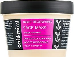 Kup Regenerująca maska do twarzy na noc - Café Mimi Night Recovering Face Mask