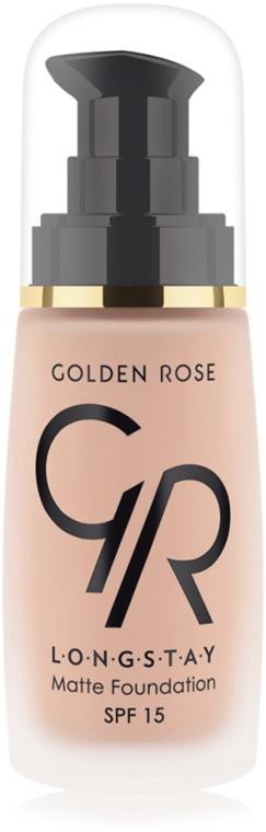 Długotrwale matujący podkład do twarzy - Golden Rose Longstay Matte Foundation — фото N1