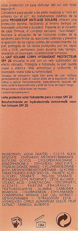 PRZECENA! Nawilżające mleczko przeciwsłoneczne do ciała SPF 20 - Carita Progressif Anti-Age Solaire Protecting And Moisturising Sun Milk * — фото N3