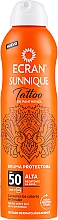 Kup Przeciwsłoneczna mgiełka ochronna do tatuaży SPF 50 - Ecran Sunnique Tattoo Protective Mist SPF50
