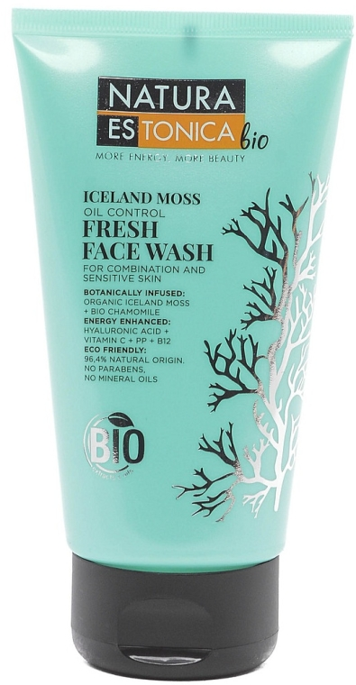 Orzeźwiający żel do mycia twarzy Islandzki mech - Natura Estonica Bio Iceland Moss Face Wash