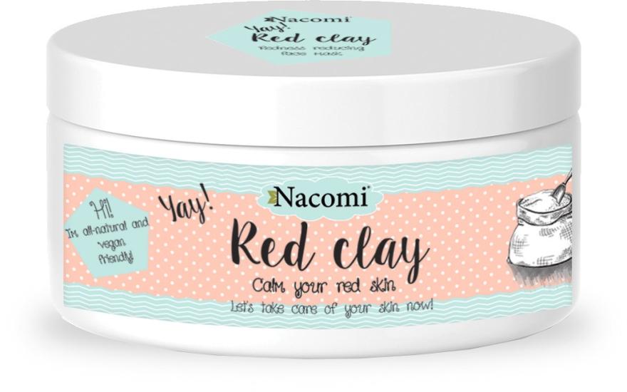 Maska rozjaśniająca - Nacomi Red Clay
