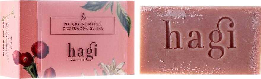 Naturalne mydło z czerwoną glinką i krwawnikiem - Hagi Ogień