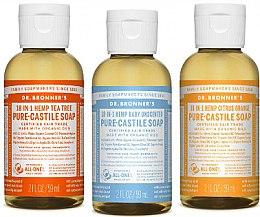 Kup Zestaw - Dr. Bronner's 18-in-1 Pure Castile Soap (soap/ 3 x 60 ml)