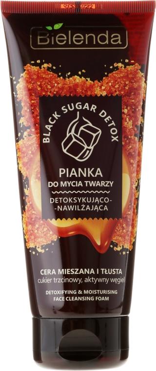 Detoksykująco-nawilżająca pianka do mycia twarzy do cery mieszanej i tłustej - Bielenda Black Sugar Detox