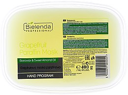 Kup Maska parafinowa z grejpfrutem do dłoni i stóp - Bielenda Professional Grapefruit Paraffin Mask Beeswax & Sweet Almond Oil