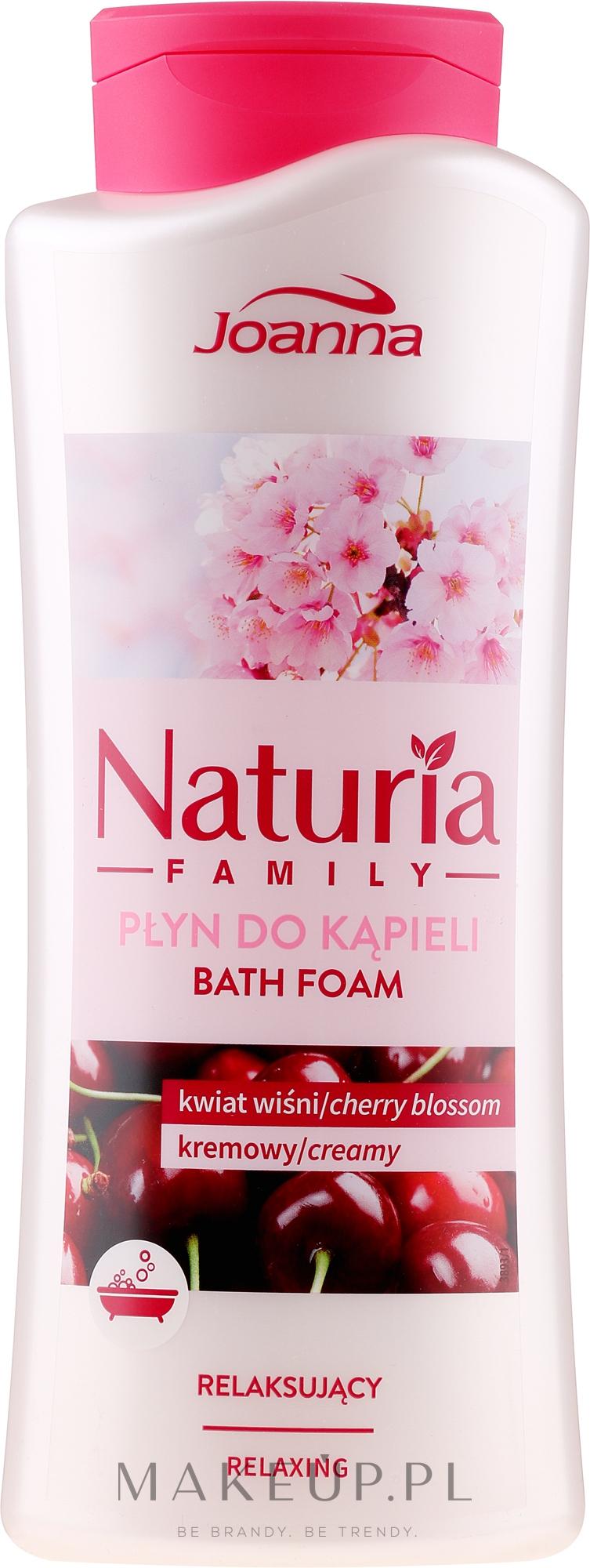Relaksujący płyn do kąpieli Kwiat wiśni - Joanna Naturia Family — фото 750 ml
