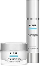 Zestaw hialuronowy do pielęgnacji twarzy - Klapp Hyaluronic Face Care Set (cr 50 ml + serum 50 ml) — фото N1