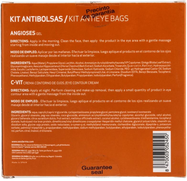 Zestaw do pielęgnacji okolic oczu - SesDerma Laboratories Kit Antibolsas (gel 15 ml + cr 15 ml) — фото N2