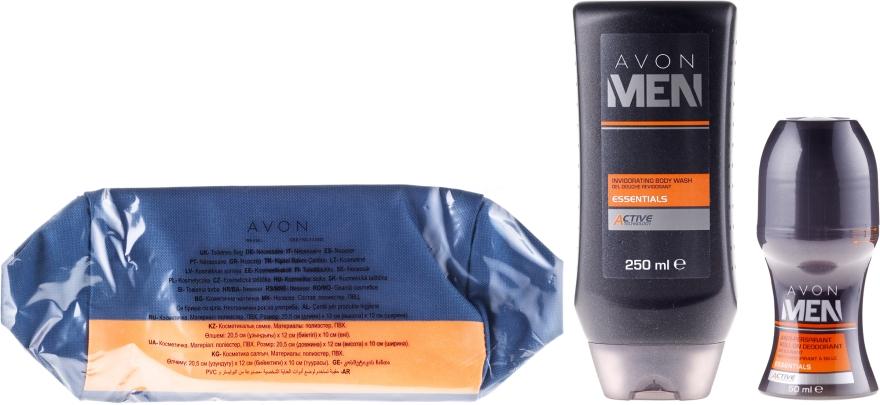 Zestaw - Avon Men Essentials (sh/gel/250ml+deo/50ml+bag)