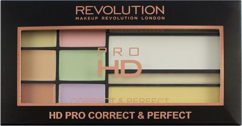 Paletka korektorów do twarzy - Makeup Revolution HD PRO Correct and Perfect — фото N3