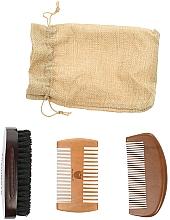 Kup Zestaw do pielęgnacji brody - Yoshimoto Gentleman's Code ST060 (comb*3 + bag)