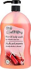 Kup Mydło pod prysznic do włosów i ciała, Rabarbar z ekstraktem z aloesu - Bluxcosmetics Naturaphy