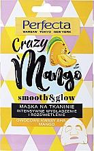 Kup Wygładzająca maseczka rozświetlająca w płachcie do twarzy Kwasy AHA i mango - Perfecta Crazy Mango Smooth & Glow