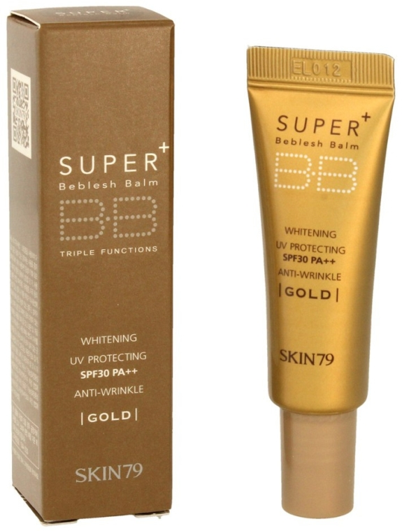 Multifunkcyjny krem BB do twarzy SPF 30 PA++ - Skin79 Super Plus Beblesh Balm Gold (miniprodukt) — фото N1
