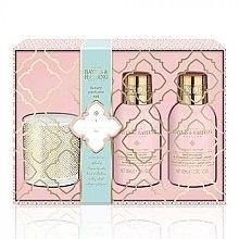 Kup Zestaw - Baylis & Harding Pink Prosecco & Elderflower (b/wash 100 ml + h/b/lot 100 ml + candle/60g)