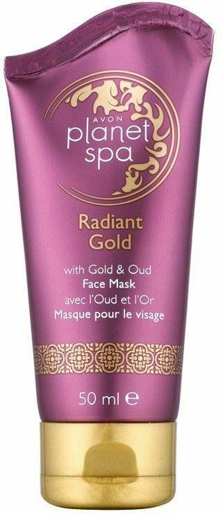 Maska złuszczająca do twarzy z drobinkami złota i olejkiem Oud - Avon Planet Spa Radiant Gold Face Mask — фото N1