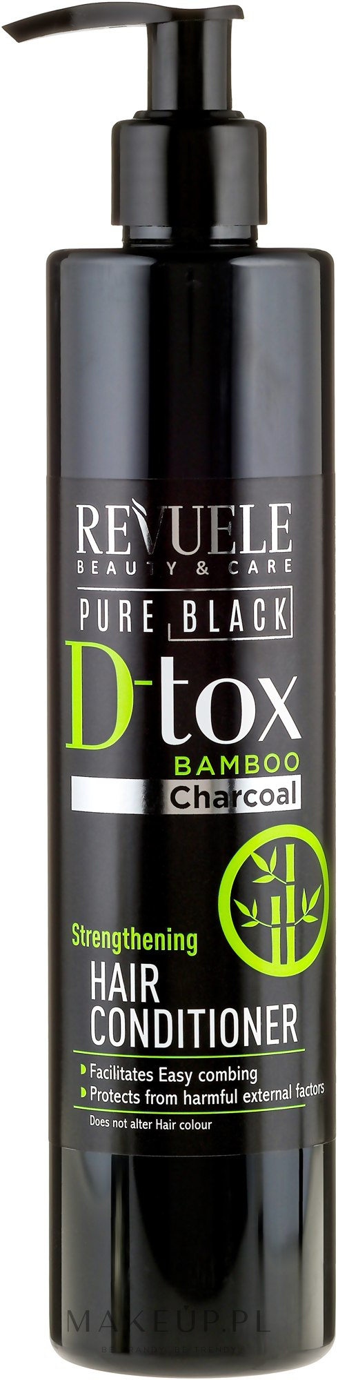 Detoksykująca odżywka do włosów - Revuele Pure Black Detox Strengthening Hair Conditioner — фото 335 ml