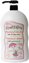 Kup Mydło pod prysznic dla dzieci Truskawka z aloesem - Bluxcosmetics Naturaphy Strawberry & Aloe Vera Hair & Body Wash