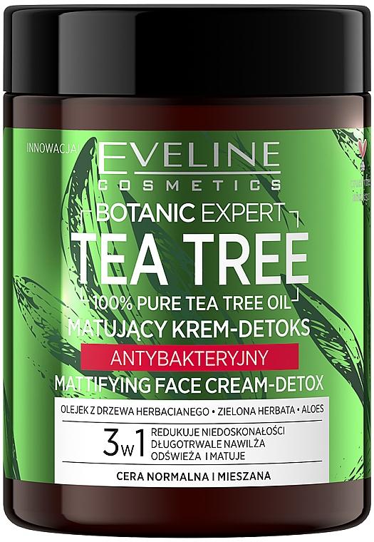Matujący krem do twarzy o działaniu antybakteryjnym - Eveline Cosmetics Botanic Expert Tea Tree