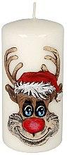Kup Dekoracyjna świeca Rudolf, biała - Artman Christmas Candle Rudolf White