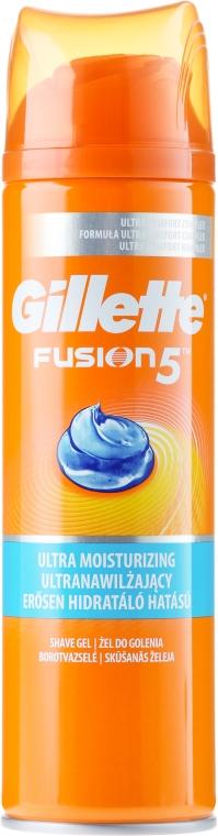 Ultranawilżający żel do golenia - Gillette Fusion 5 Ultra Moisturizing Shave Gel — фото N3