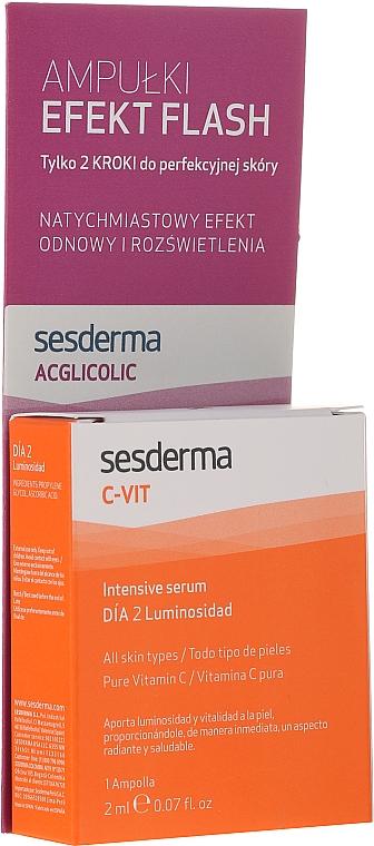 Zestaw ampułek - SesDerma Laboratories Efect Flash (peel 2 ml + ser 2 ml)