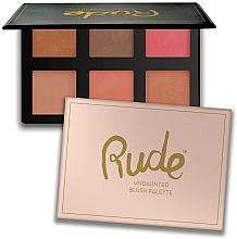Kup Paleta różów do twarzy, 6 kolorów - Rude Undaunted Blush Palette