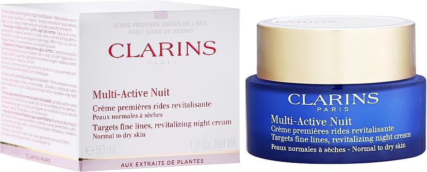 Krem do twarzy przeciw pierwszym oznakom starzenia - Clarins Multi-Active Night Cream Normal to Dry Skin — фото N1