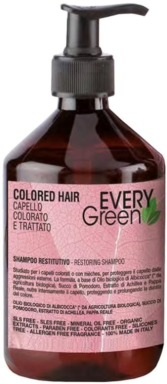 Szampon do włosów farbowanych - Dikson Every Green Colored Hair Restorative Shampoo