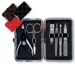 Kup Zestaw do manicure'u 79733, czarny, 6 elementów - Top Choice