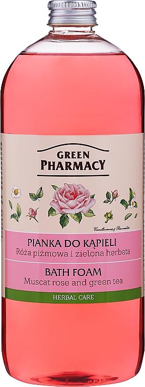 Pianka do kąpieli Róża piżmowa i zielona herbata - Green Pharmacy