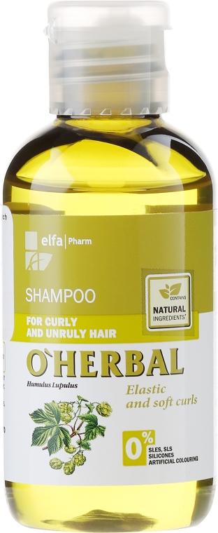 Szampon z ekstraktem z chmielu do włosów kręconych i niezdyscyplinowanych - O'Herbal