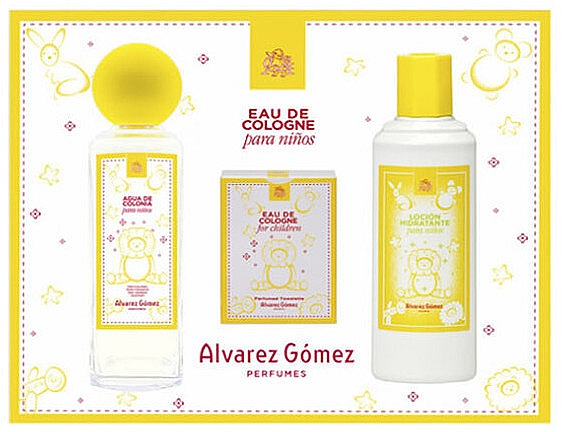 Alvarez Gomez Agua de Colonia Para Ninos - Zestaw (edc 175 ml + wipes 10 pc + b/lot 300 ml) — фото N1