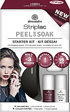 Kup Zestaw (led/lamp + 2 x nail/polish 5 ml + n/top 5 ml + aceton 30 ml + n/file 10 szt. + n/sponge 50 szt. + sticks + chopstick) - Alessandro International Striplac Peel Or Soak Starter Kit