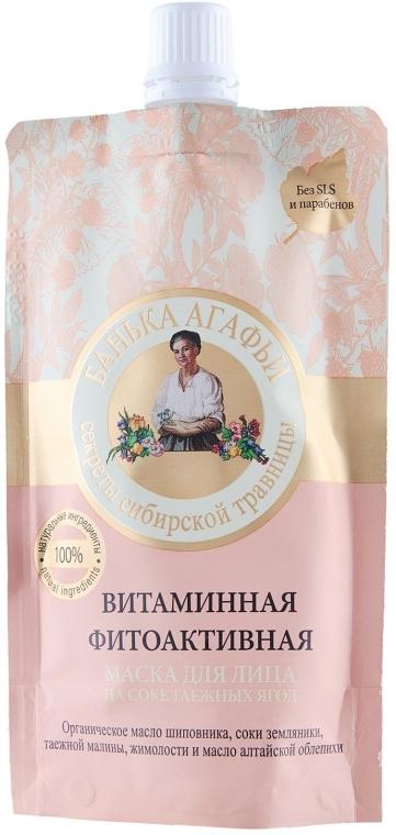 Witaminowa maska fitoaktywna do twarzy Sok z jagód tajgi - Receptury Babci Agafii Bania Agafii