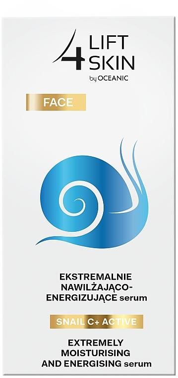 Ekstremalnie nawilżająco-energizujące serum do twarzy - Lift4Skin Snail C+ Active