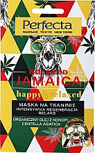 Kup Regenerująca maseczka w płachcie do twarzy Olej konopny i wąkrota azjatycka - Perfecta Relaxed Jamaica Happy & Relaxed
